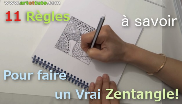 Un Zentangle, explication et tuto