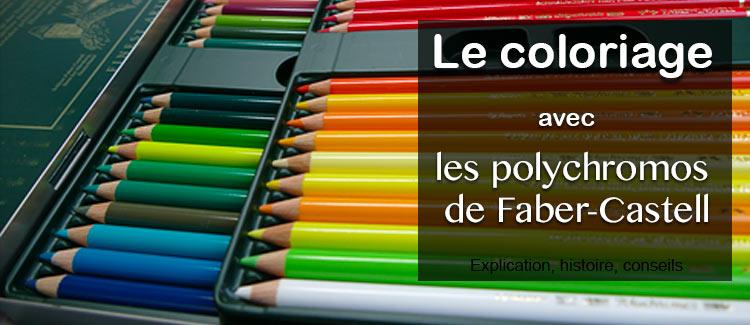 le coloriage avec les crayons de couleur polychromos