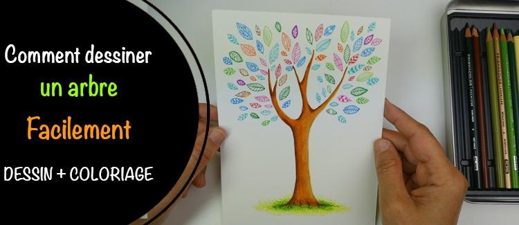 Dessin d arbre aux feutres