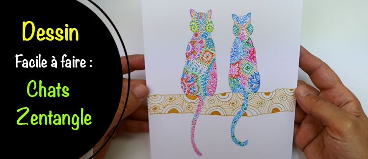Comment dessiner un chat Zentangle