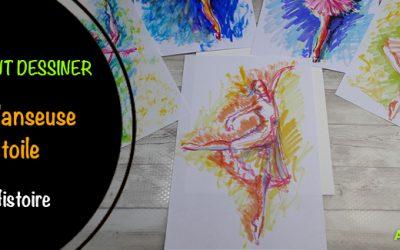 Comment dessiner une danseuse étoile aux feutres